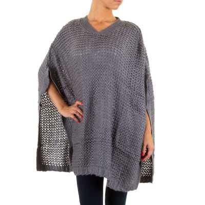 Poncho/Cape für Damen in Grau
