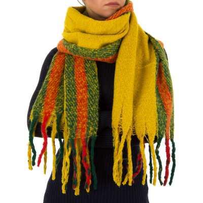 Großer Wollmix Schal Gelb