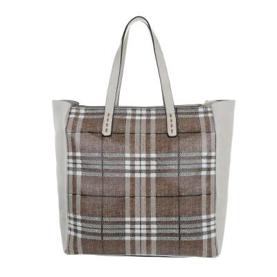 Große Damen Tasche Beige Grau