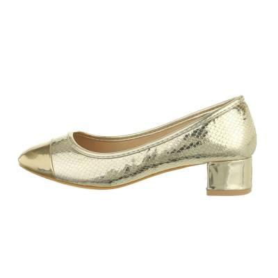 Klassische Pumps für Damen in Gold