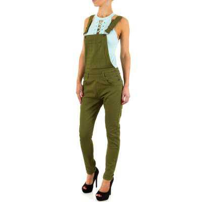 Latzjeans für Damen in Grün
