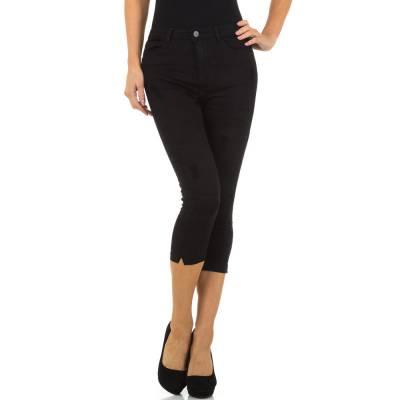 Capri-Jeans für Damen in Schwarz