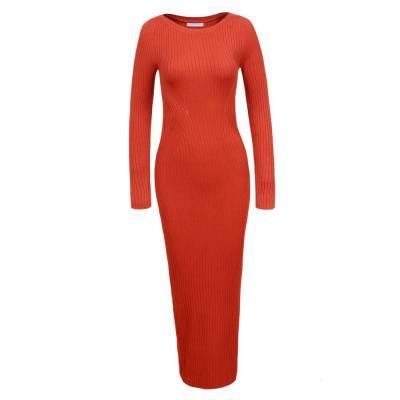 Strickkleid für Damen in Orange