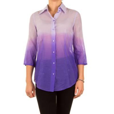 Apriori Elegante Seiden Hemd Bluse Lila