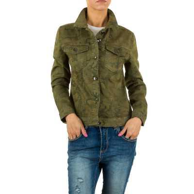 Jeansjacke für Damen in Grün