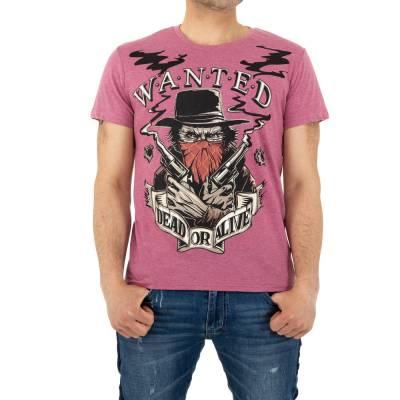 T-Shirt für Herren in Rosa