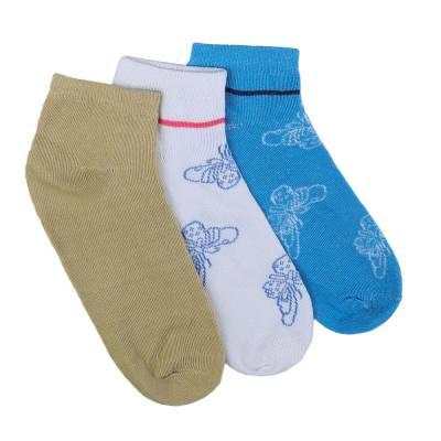 12 Paar Damen Socken Blau Multi