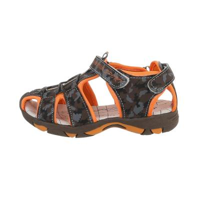Jungen Kinder Sandalen Braun Orange