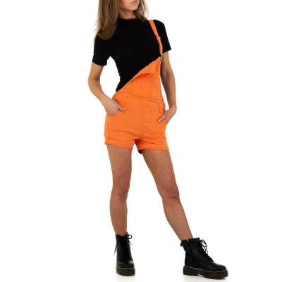 Latzshorts für Damen in Orange