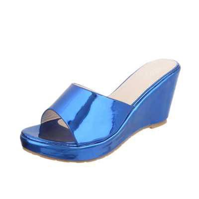 Keilsandaletten für Damen in Blau