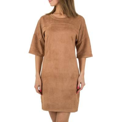 Stretchkleid für Damen in Braun
