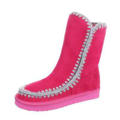 Mädchen Kinder Stiefeletten Pink