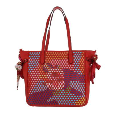 Mittelgroße Damen Tasche Rot Multi