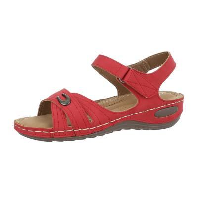 Riemchensandalen für Damen in Rot