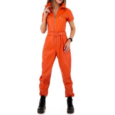 Langer Jumpsuit für Damen in Orange