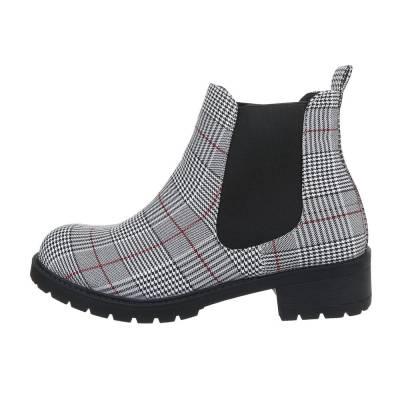 Chelsea Boots für Damen in Grau und Weiß