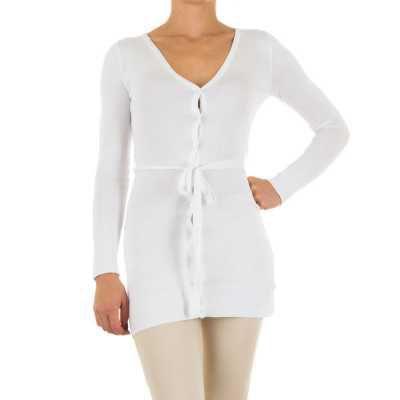 Strickjacke für Damen in Weiß