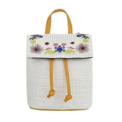 Rucksack für Damen in Camel und Weiß