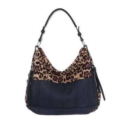 Große Damen Tasche Blau Beige