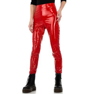 Hose in Lederoptik für Damen in Rot