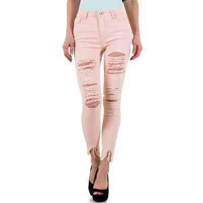 High Waist Jeans für Damen in Rosa