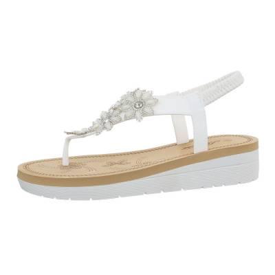 Zehentrenner für Damen in Weiß