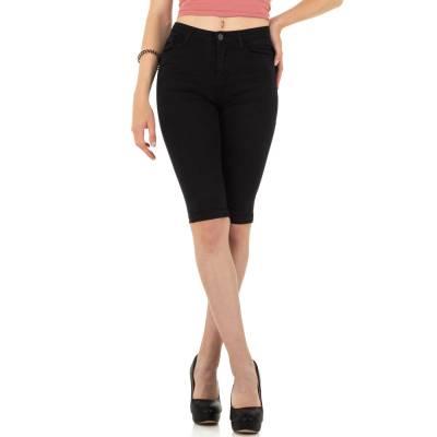 Jeansshorts für Damen in Schwarz