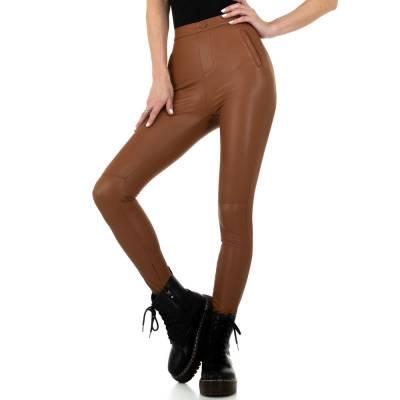 Hose in Lederoptik für Damen in Braun
