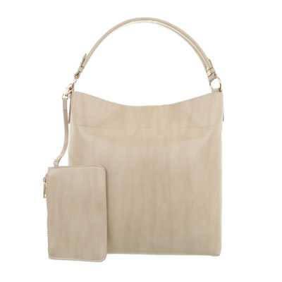 Mittelgroße Damen Tasche Beige