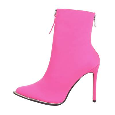 High Heel Stiefeletten für Damen in Pink