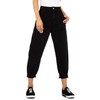 Relaxed Fit Jeans für Damen in Schwarz und Schwarz