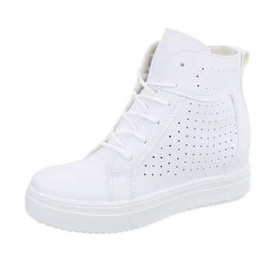 Sneakers high für Damen in Weiß