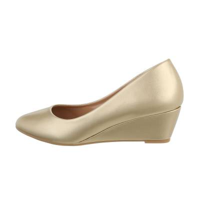 Keilpumps für Damen in Gold