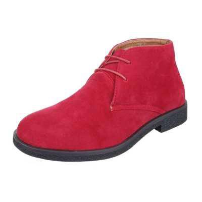 Stiefeletten für Herren in Rot
