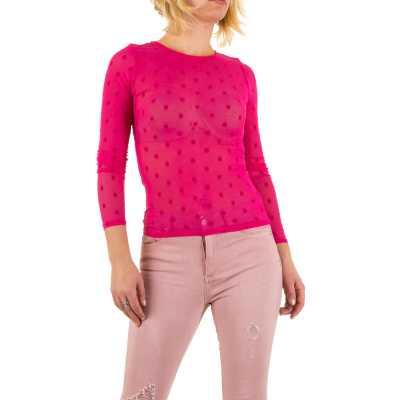 Langarmshirt für Damen in Rosa