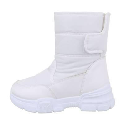Plateaustiefeletten für Damen in Weiß