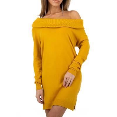Strickkleid für Damen in Gelb