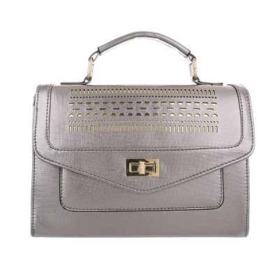 Kleine Damen Tasche Silber Grau