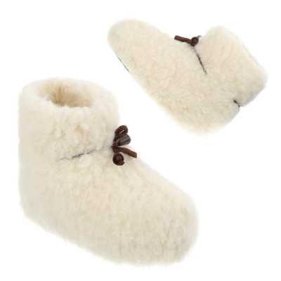 Warm Gefütterte Kinder Schurwolle Hausschuhe Weiß