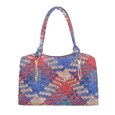 Mittelgroße Damen Tasche Blau Multi