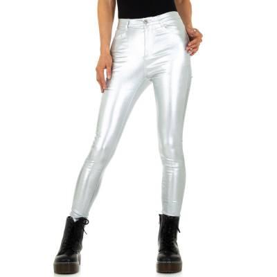 Skinny-Hose für Damen in Silber