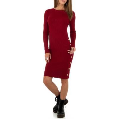 Strickkleid für Damen in Rot