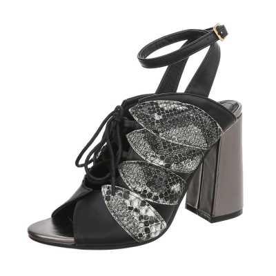 High Heel Sandaletten für Damen in Schwarz und Grau