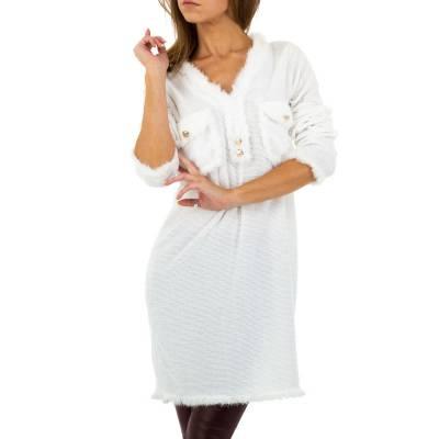 Strickkleid für Damen in Weiß