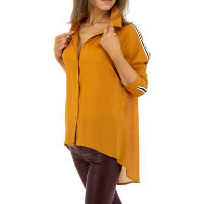 Hemdbluse für Damen in Braun