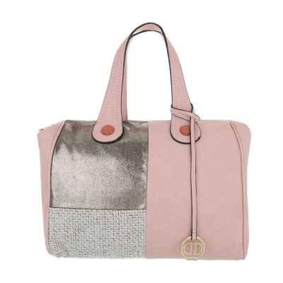 Große Damen Tasche Rosa Gold
