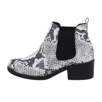Chelsea Boots für Damen in Weiß und Grau
