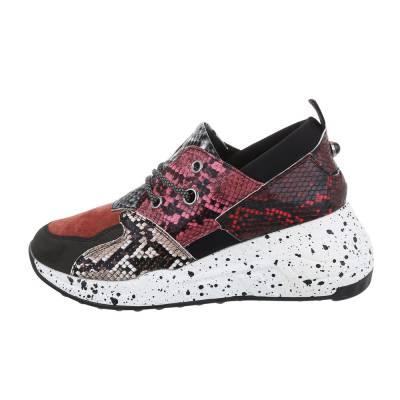 Sneakers low für Damen in Rosa und Schwarz