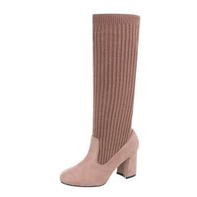 High Heel Stiefel für Damen in Rosa
