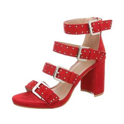 High Heel Sandaletten für Damen in Rot